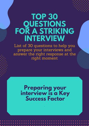 1-FICHE TOP 30 Questions striking interview