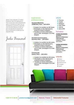 Modèle de CV design dédié au métier d'agent immobilier ou de ce qui s'y rapporte.