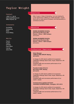 Mycvfactory-original resume-186-ENG