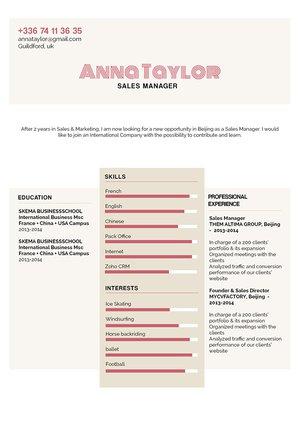 Mycvfactory-original resume-187-ENG