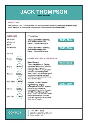 Mycvfactory-modern resume-199-ENG