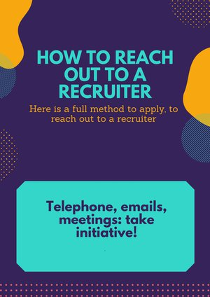 2-How to reach out to a recruiter ENG FICHE