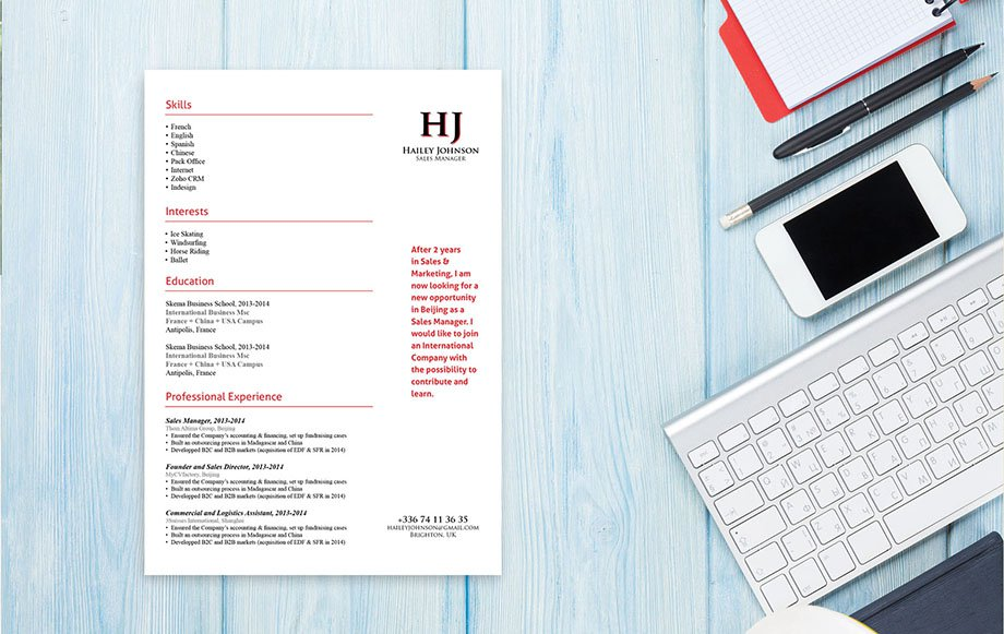 Mycvfactory-modern resume-148-ENG