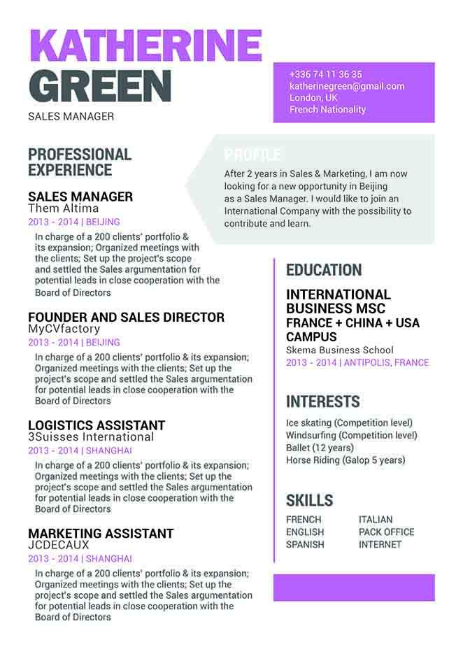Mycvfactory-modern resume-105-ENG