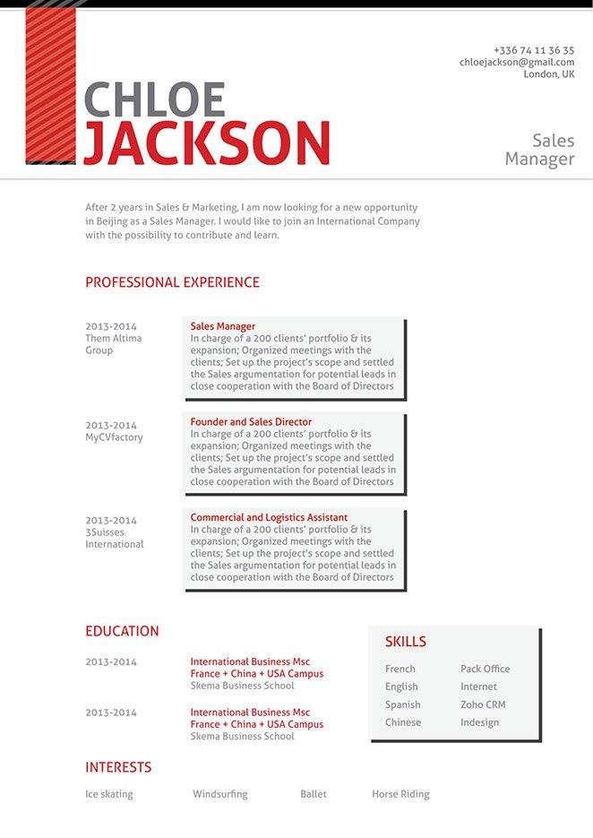 mycvfactory resume templates 126 eng - Keynote Resume Template