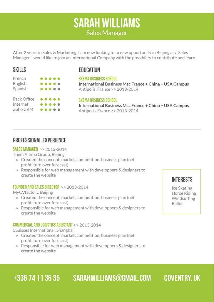 Mycvfactory-modern resume-151-ENG