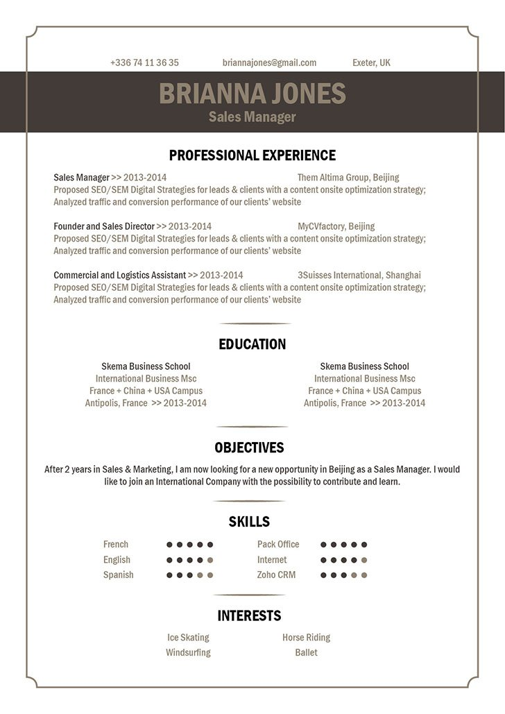 best resume format catchy resume · mycvfactory