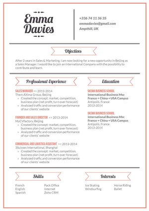 Mycvfactory-original resume-155-ENG