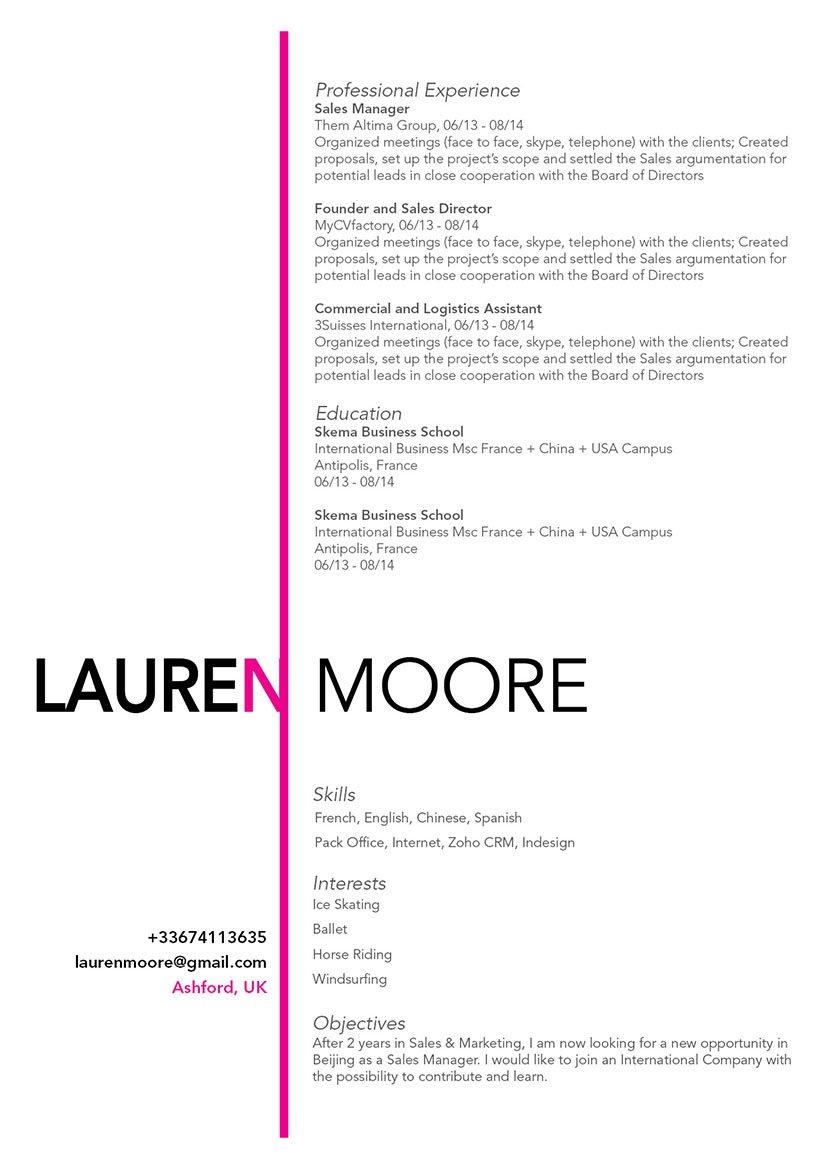 Mycvfactory-original resume-159-ENG