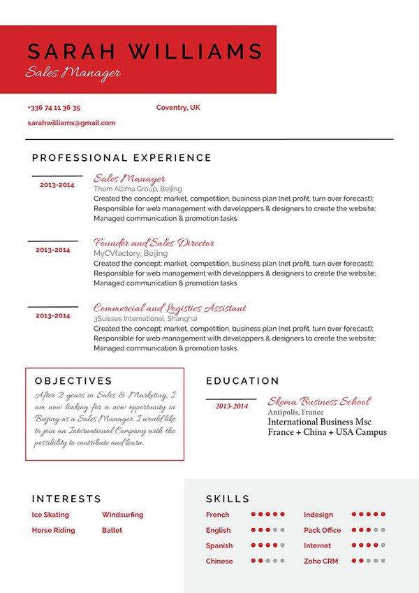 Mycvfactory-original resume-163-ENG