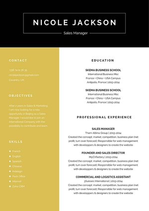 Mycvfactory-original resume-164-ENG