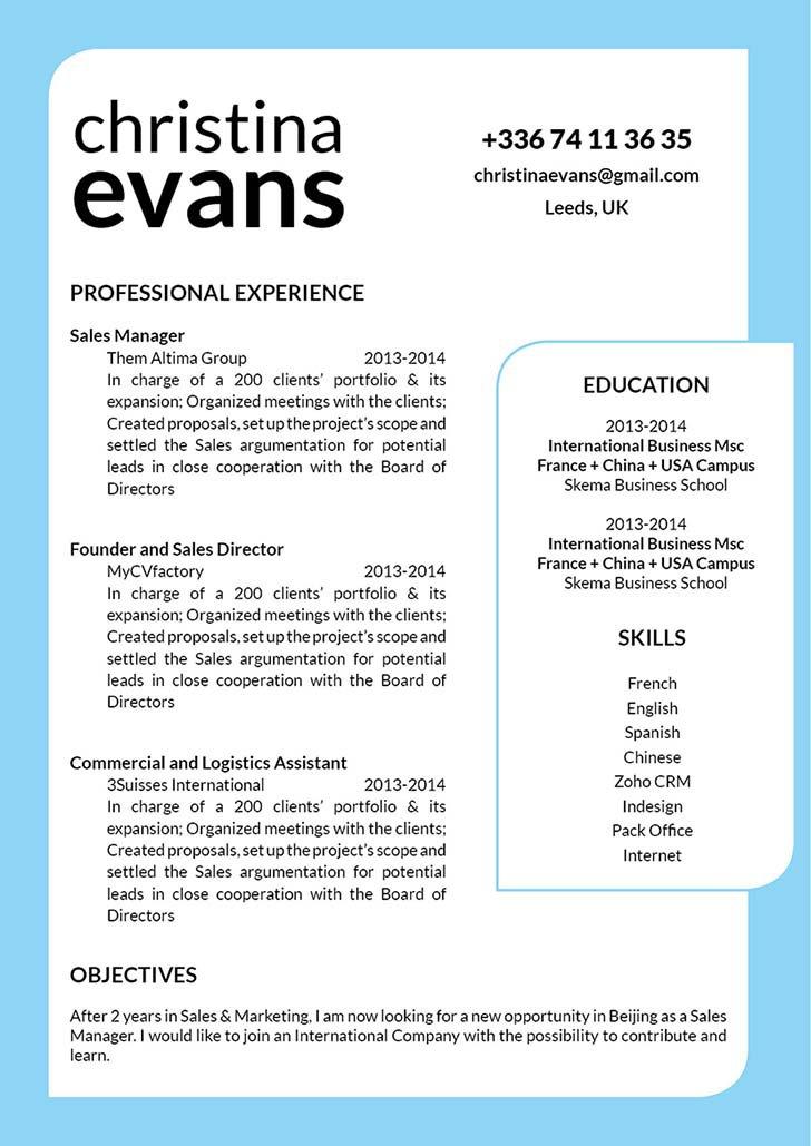 Mycvfactory-original resume-170-ENG