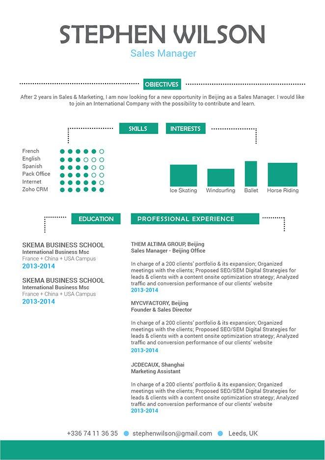 Mycvfactory-original resume-196-ENG
