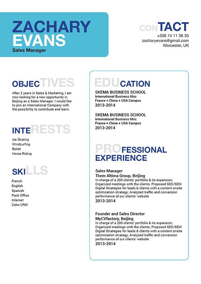 simple resume format appropriate resume mycvfactory