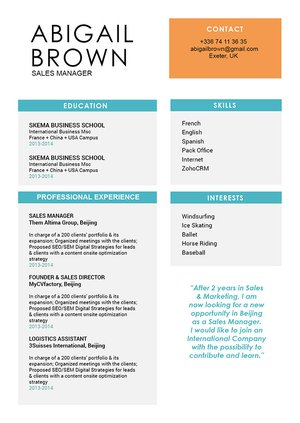 Mycvfactory-modern resume-215-ENG