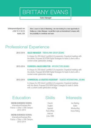 Mycvfactory-original resume-227-ENG
