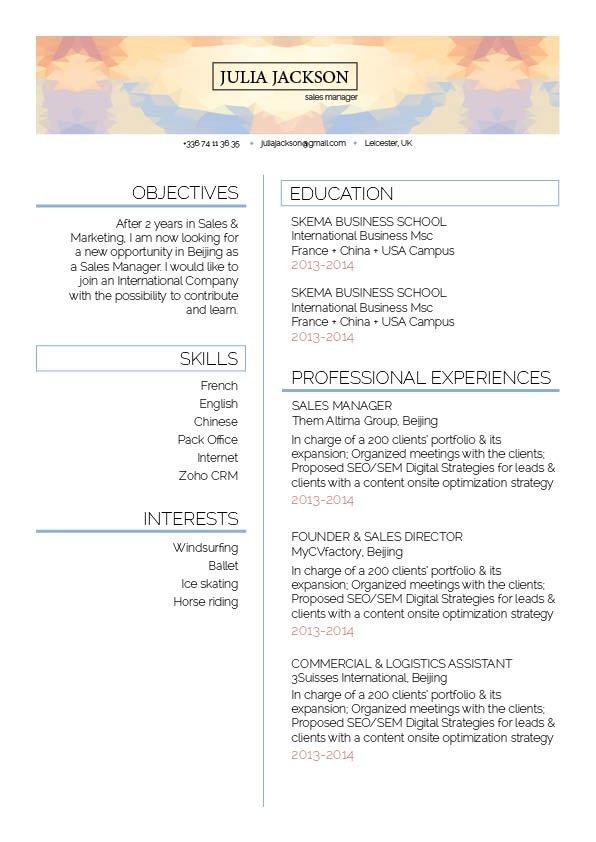 Mycvfactory-original resume-234-ENG