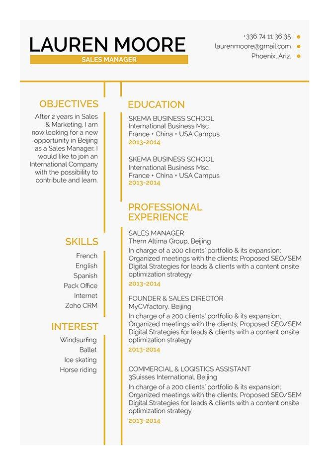 Mycvfactory-original resume-268-ENG