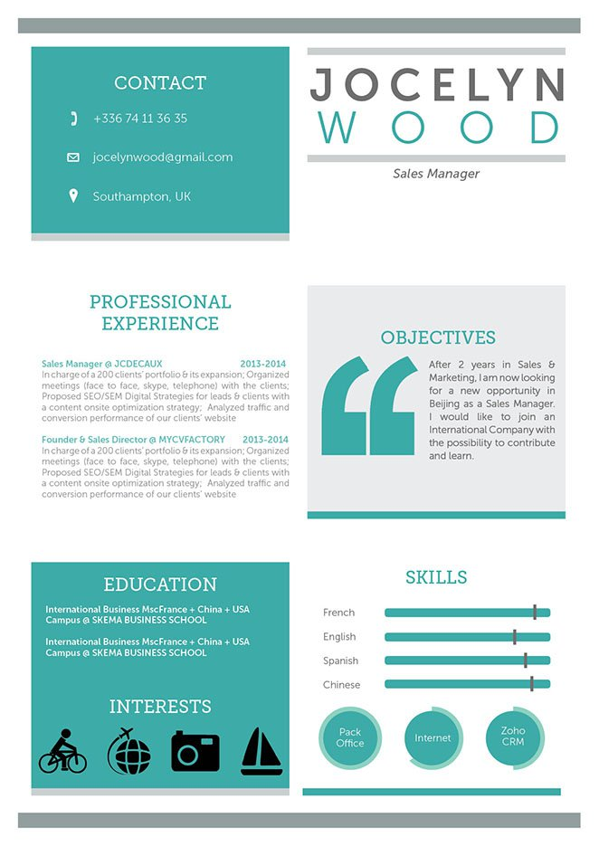 Mycvfactory Original Resume 26 Eng  Impressive Resume