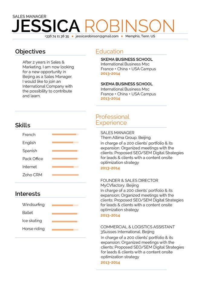 Mycvfactory-modern resume-270-ENG