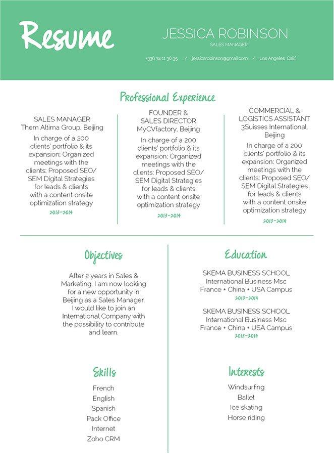mycvfactory modern resume 296 eng - Keynote Resume Template