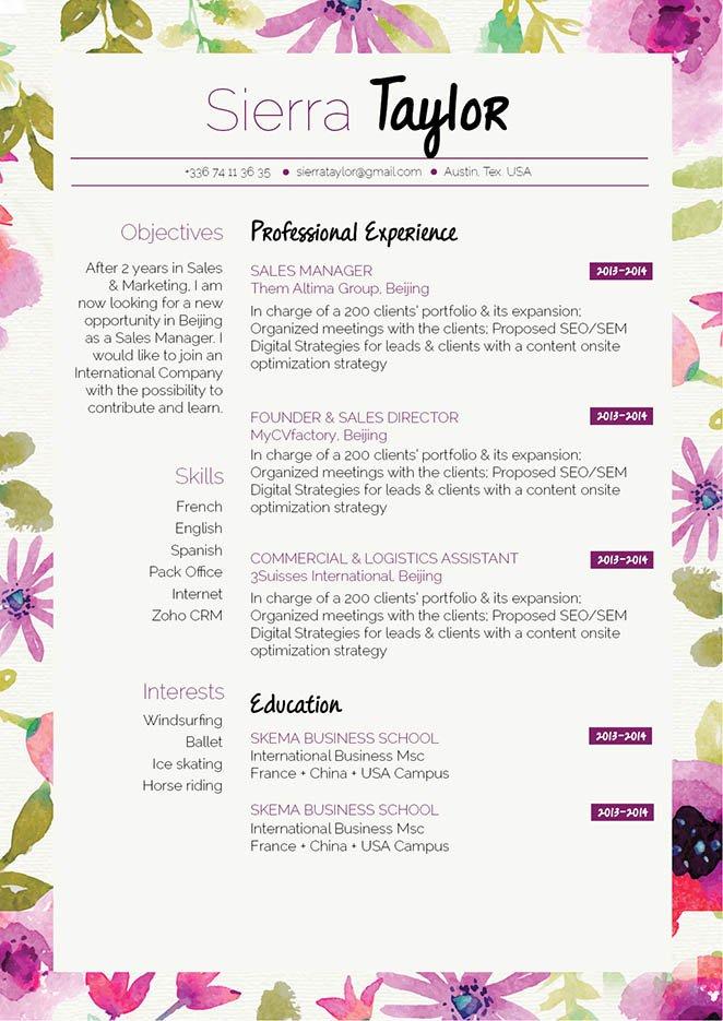 Mycvfactory-original resume-297-ENG
