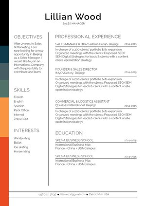 Mycvfactory-original resume-305-ENG