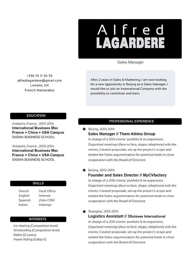 mycvfactory modern resume 69 eng - Keynote Resume Template